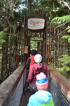 Whistler Tree Top Tour Entrance