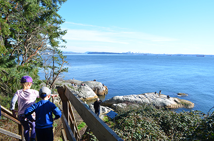 View over Vancouver from Lighthouse Park