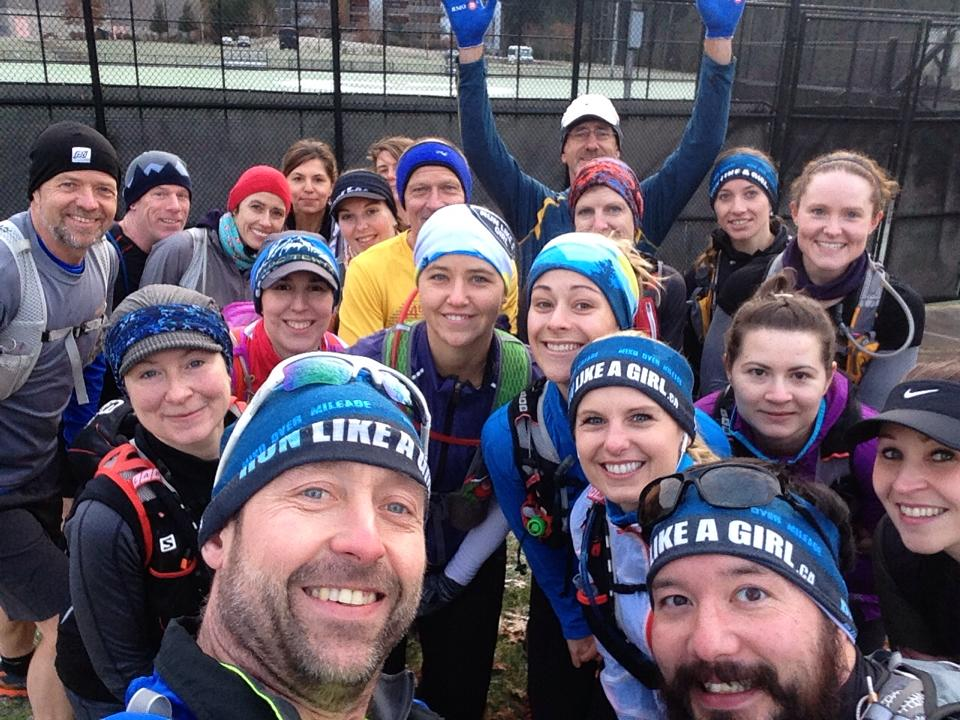 These crazy runners tread all around the mountains in Vancouver racking up 15 - 25 km each go!