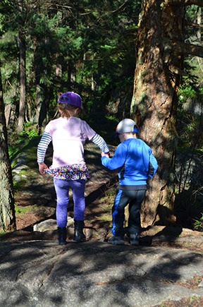 Families that play together, stay together. I love how much these kids like going on adventures together!