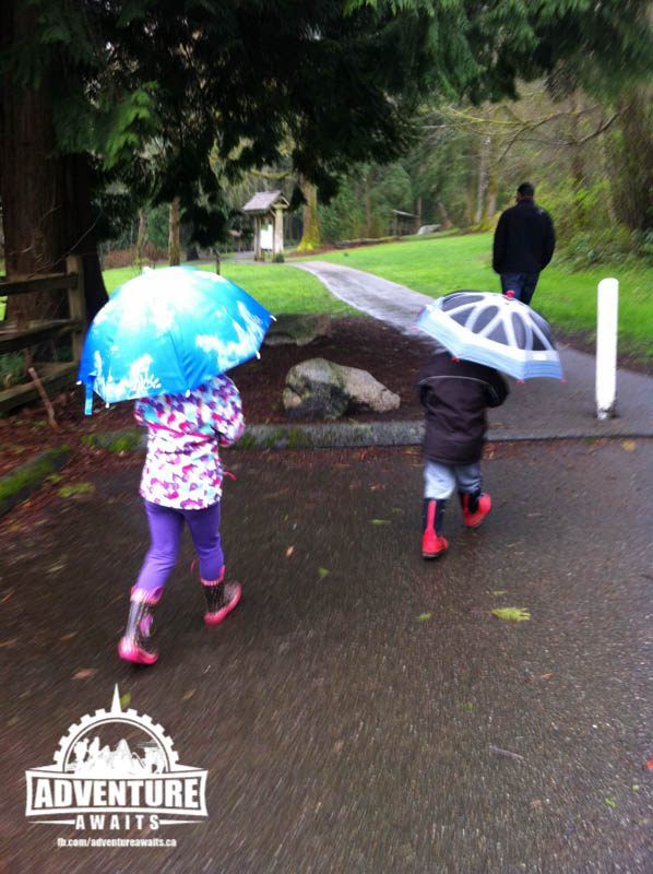 Kids were excited to have a place where they could get their umbrellas out and play with them!