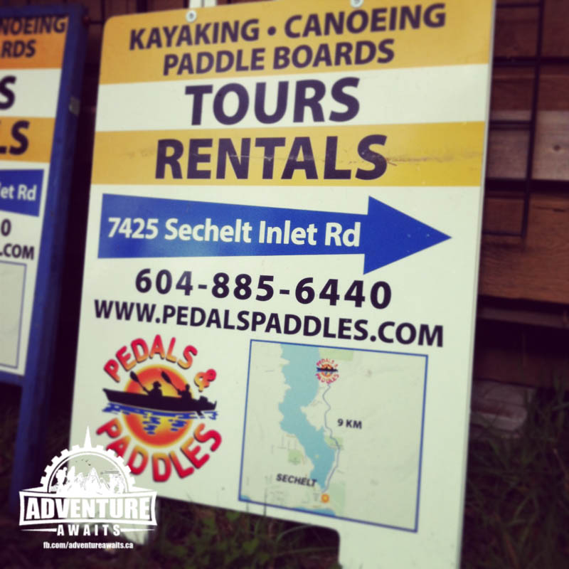 We were excited to spend the day kayaking with Pedals and Paddles on the Sunshine Coast in beautiful Sechelt, BC.