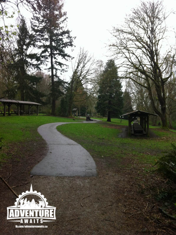 The park has more amenities then I can list! From outdoor picnic shelters to big fields and wide paths, this park is family friendly!