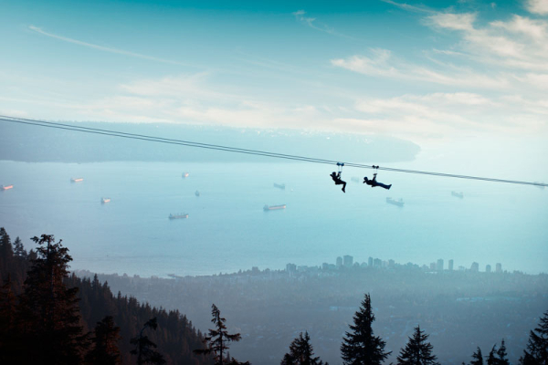 This photo is taken on the 4th Zipline up at the top of Grouse Mountain. The credit for this photo goes to Grouse Mountain... I was too busy having fun and taking videos to take pictures!
