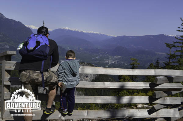 Checking out the view of Squamish and beyond. So lucky I captured this moment!