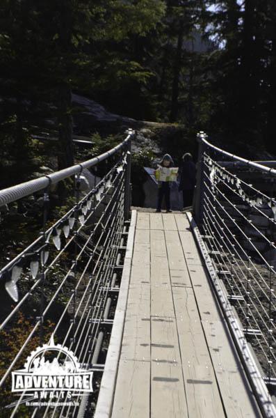 Sea to Sky Gondola - Boy on Suspension Bridge