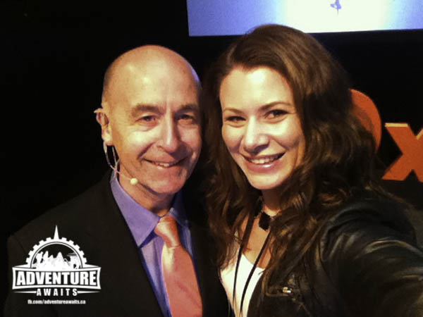 I was able to steal the amazing Roger Killen for a on stage #selfie!
