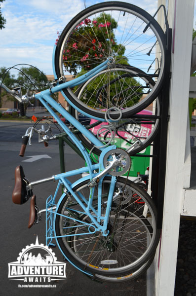 Want to cruise around town on two wheels? Why not borrow a bike? There's even a tune up station out back!