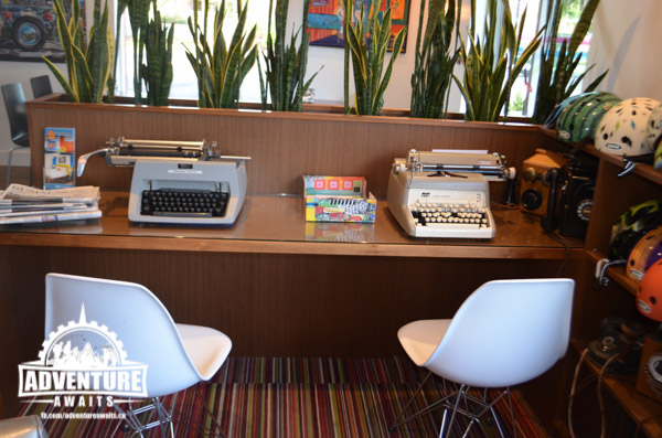 Hey Kids, go play on the typewriters!!! Hands on learning and a throwback to another time = recipe for fun!