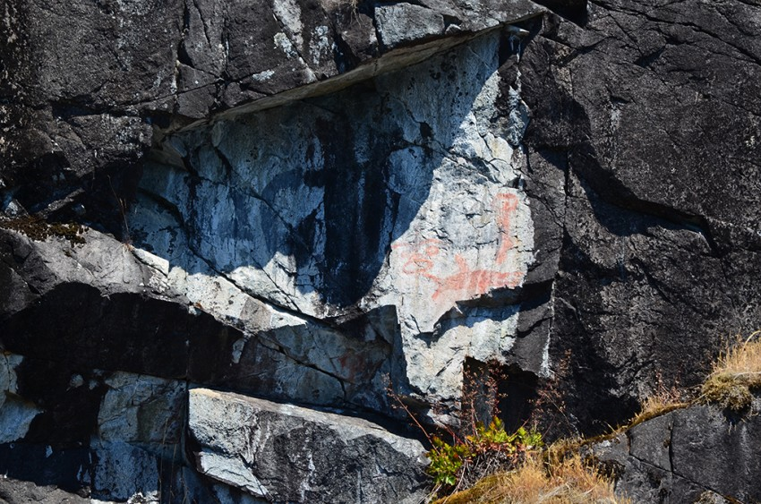 Aboriginal Markings seen during the Desolation Sound Boat Tour