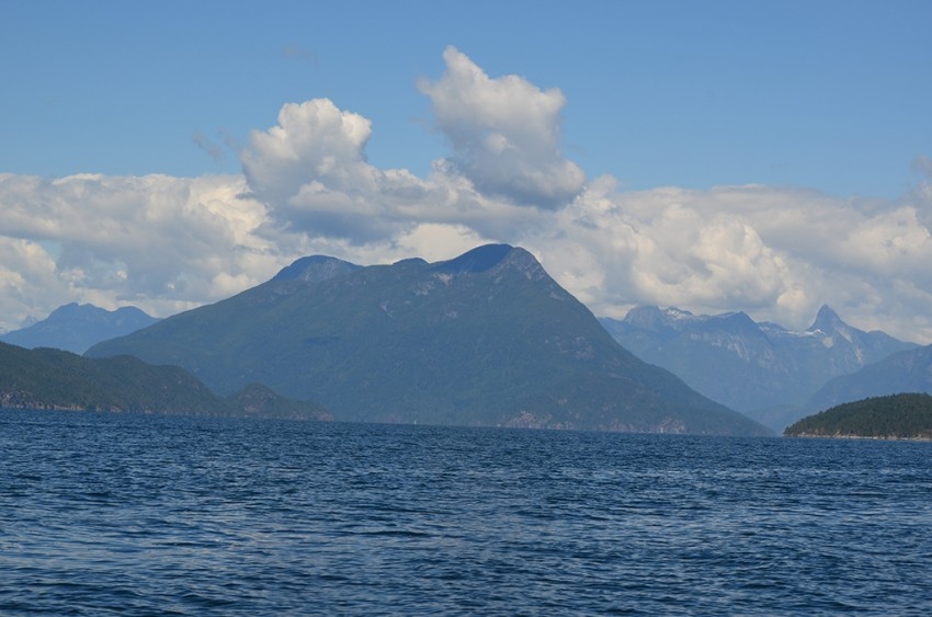 View during the Desolation Sound Boat Tour