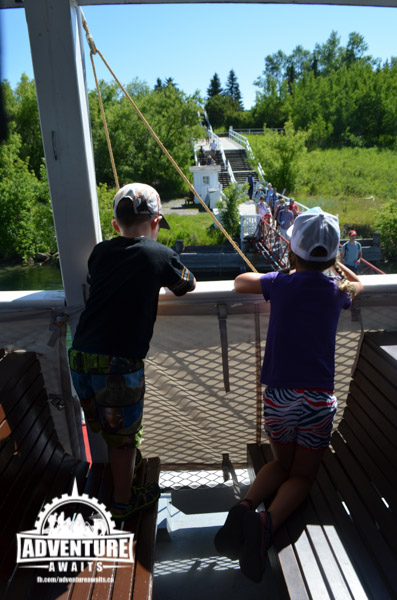 One of the highlights at Heritage Park was the Paddle wheeler Ride! We were greeted by bright beautiful skies!