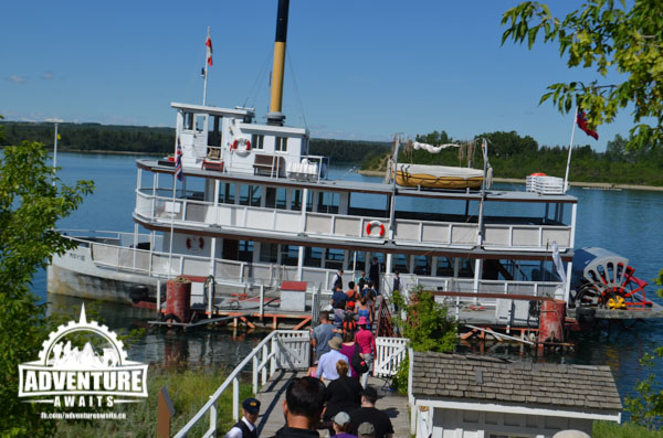 All Aboard! Time to take a ride on a real paddlewheeler!