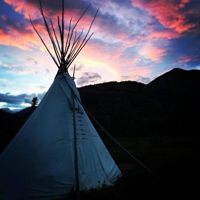 Our tipi in Waterton Lakes National Park
