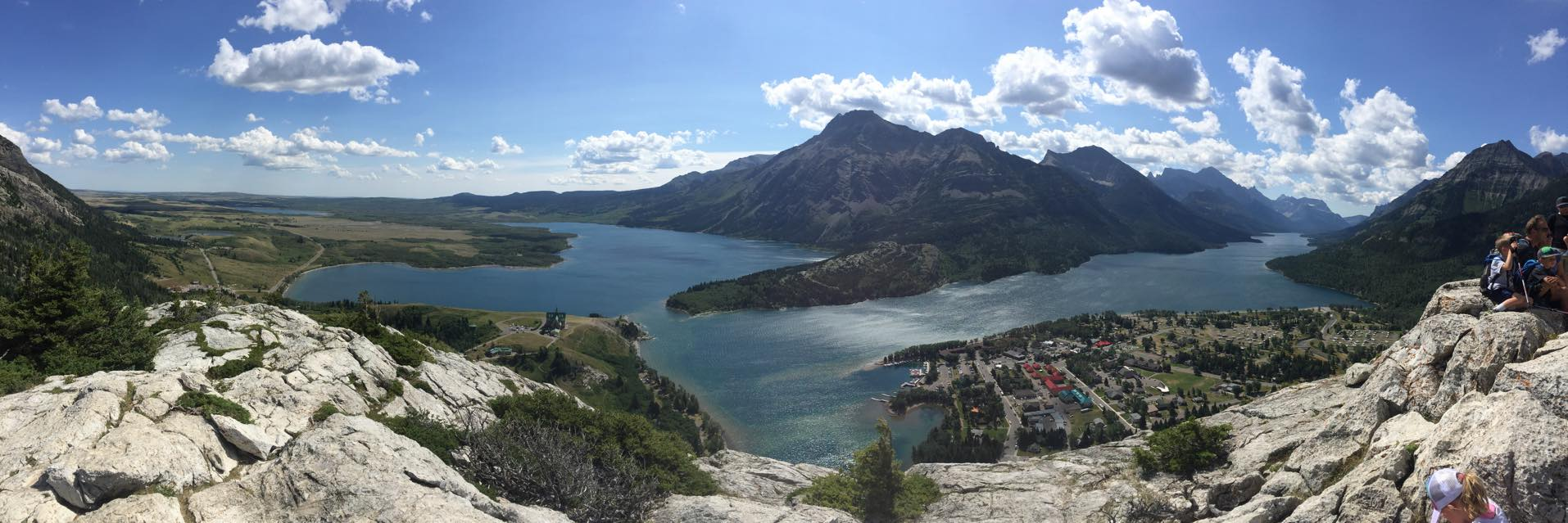View of town from the end of a hike in Waterton Lakes National Park