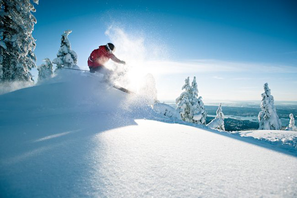 Time for some POWDER! Photo credit: www.grousemountain.com