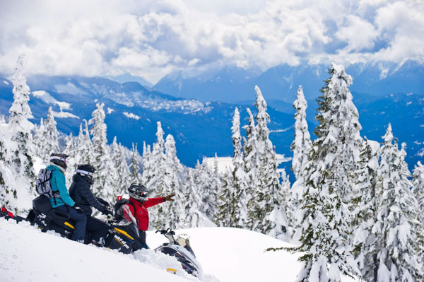 Snowmobiling in Whistler for our Christmas gifts for outdoor dads list