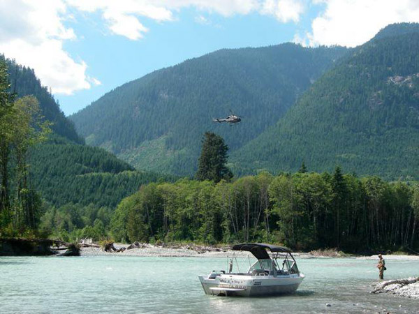 Fishing and Flying with Sky Helicopters. Photo credit to Sky Helicopters. http://www.skyhelicopters.ca/