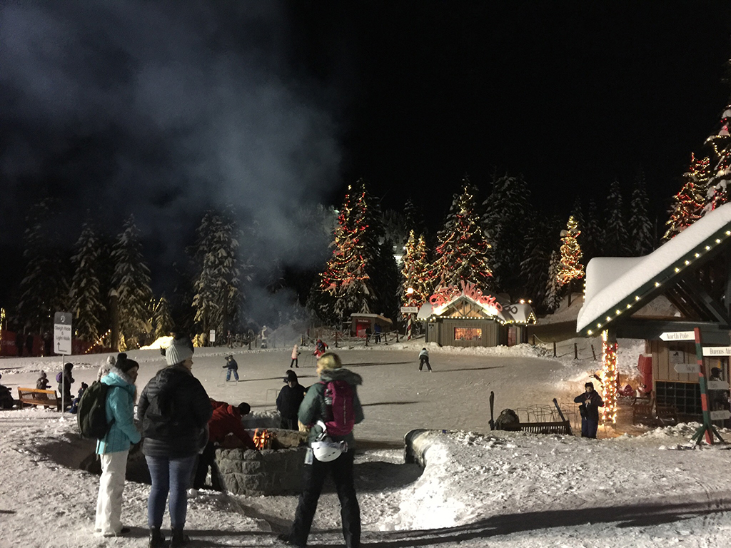 Grouse Mountain for Christmas activities in Vancouver