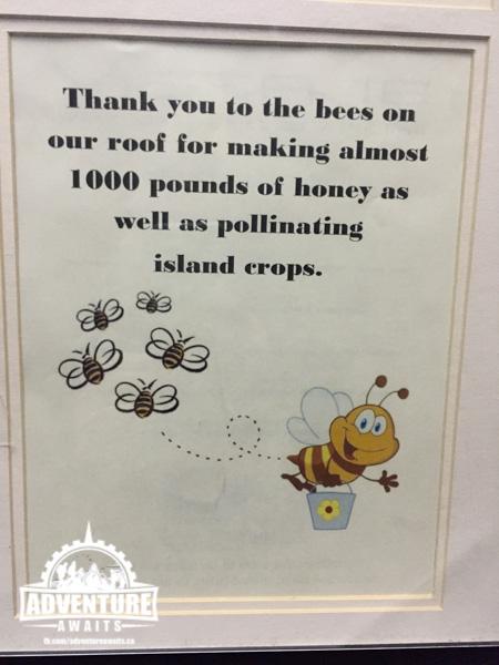 Honeybee sign for rooftop honey bee hives