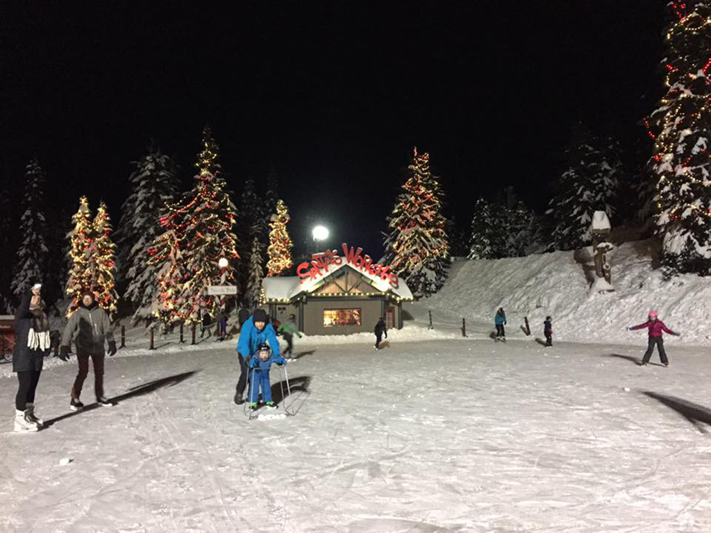 skating at Grouse Mountain