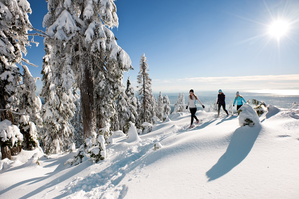 Snowshoeing at Grouse Mountain for our Christmas Gift Guide For Outdoor Moms