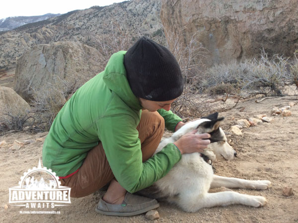 Snuggles with Tundra. Photo: Stacey Weldon
