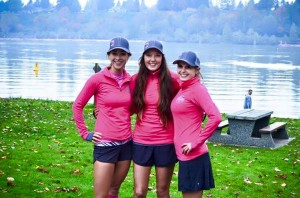 The beautiful Hailey, Courtney and Dayne pose after one of their popular fundraising events. Photo credit belongs to runlikeagirl.ca