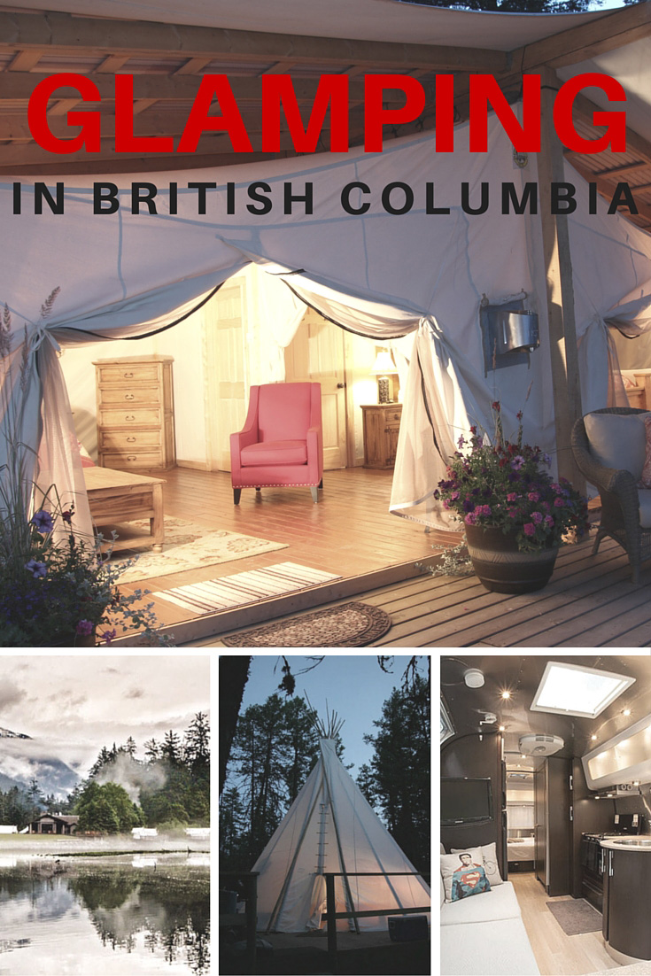 Glamping in BC Pinterest Picture