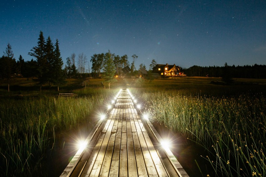 This stunning walkway leading through the grasslands at Siwash Lake. What an amazing pathway to start or end your day. Photo credit: Siwash Lake.