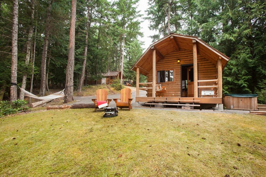 Photo credit goes to Woods on Pender, where these cozy cabins give families a comfortable and fun place to escape.