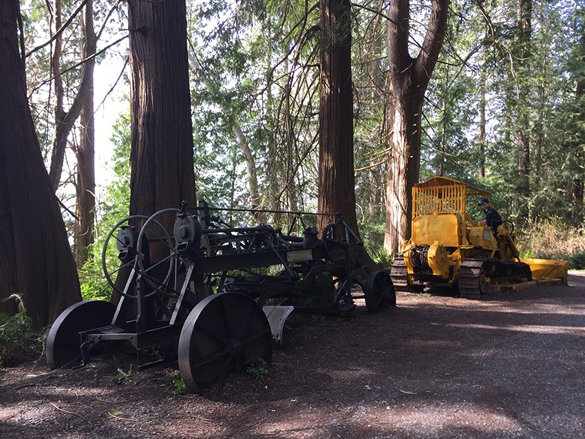 Old machinery on the Willingdon Beach Trail