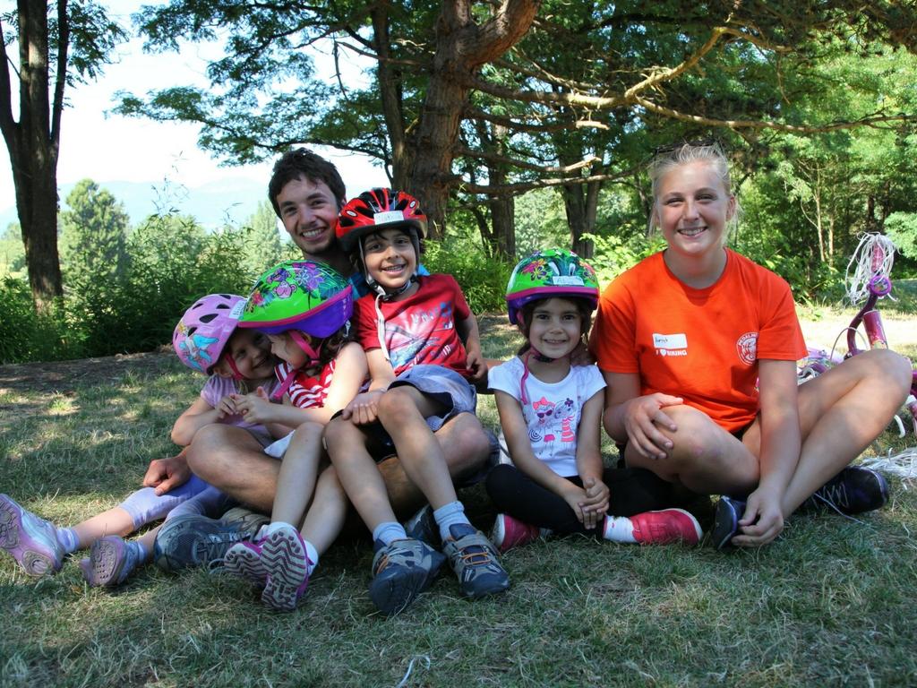 Kids at pedalheads summer camp