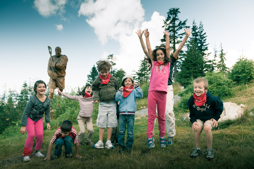 Kids at Grouse Mountain Summer Camp for the best adventure camps for kids list