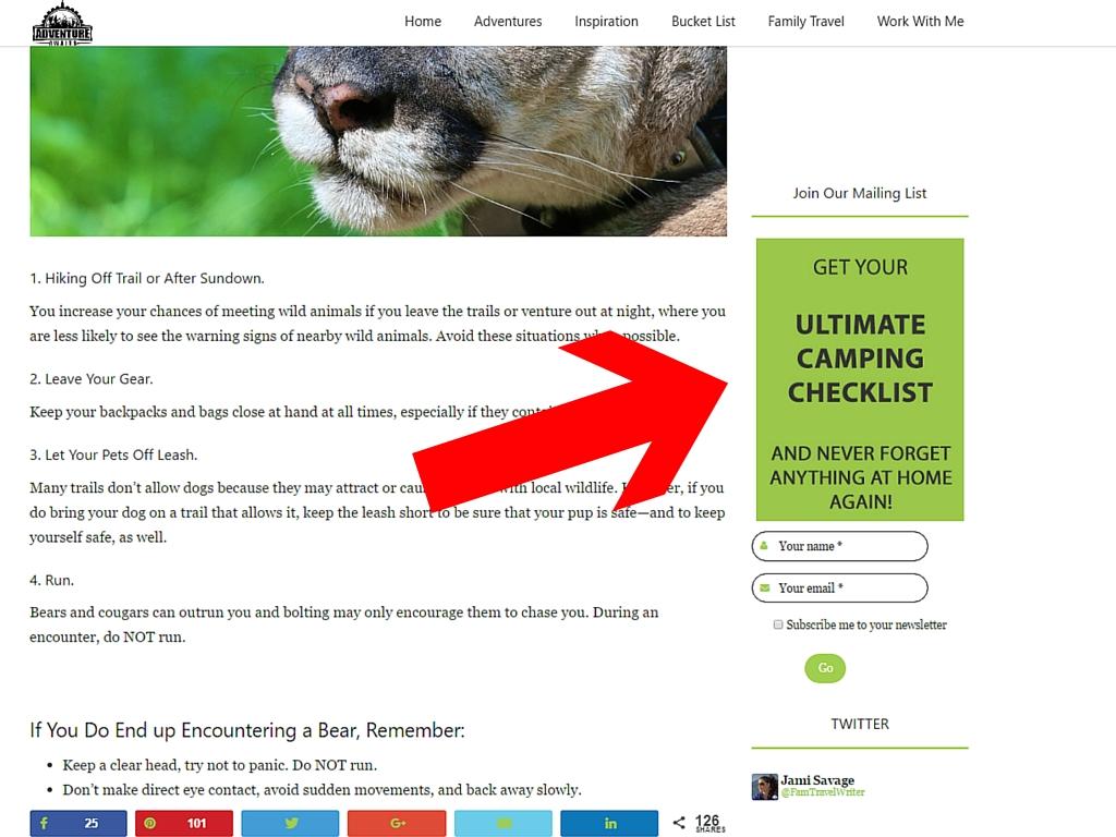 screenshot camp checklist