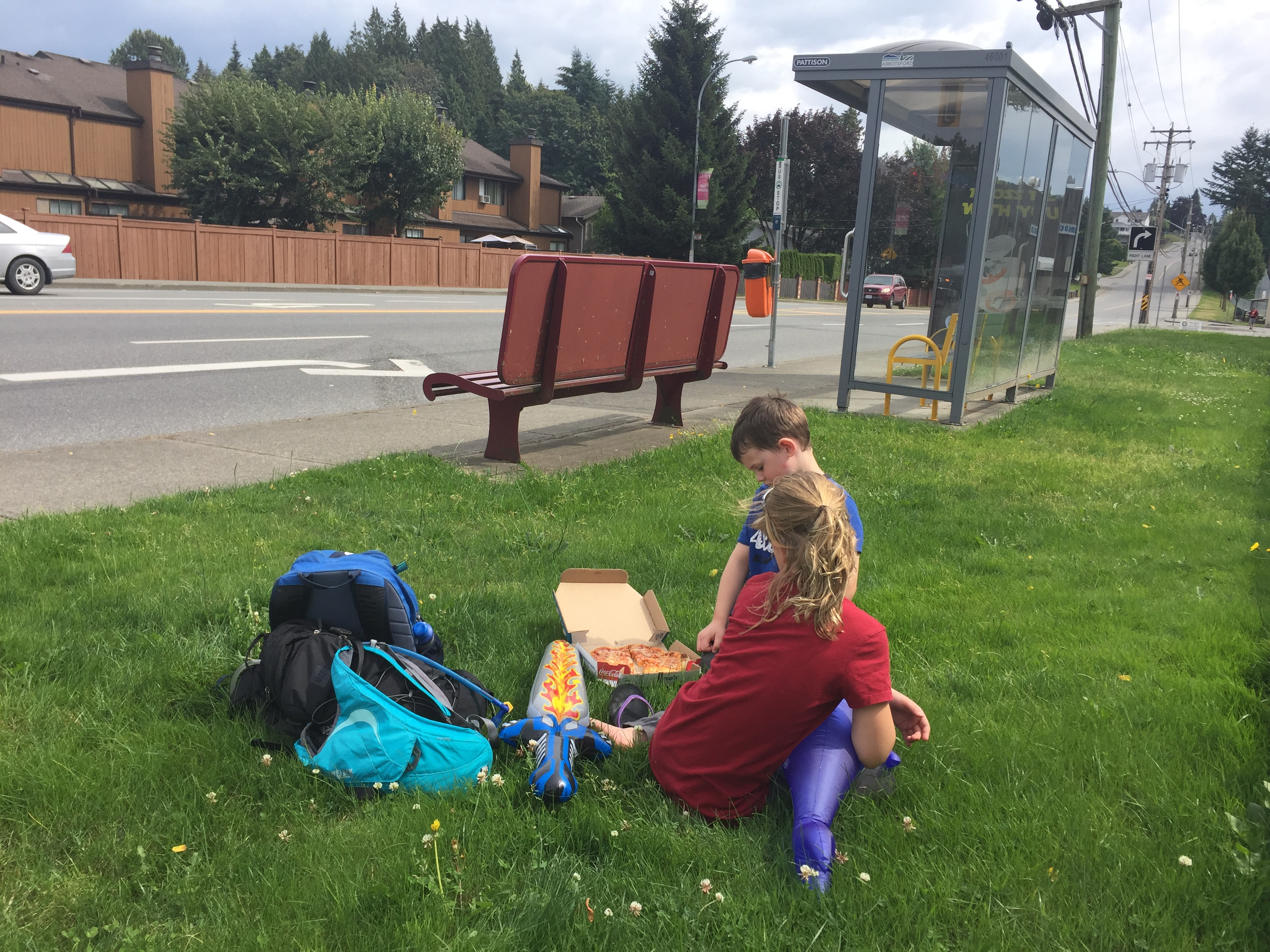 Bus Stop Lunch Time with #ExploreBCbyBus