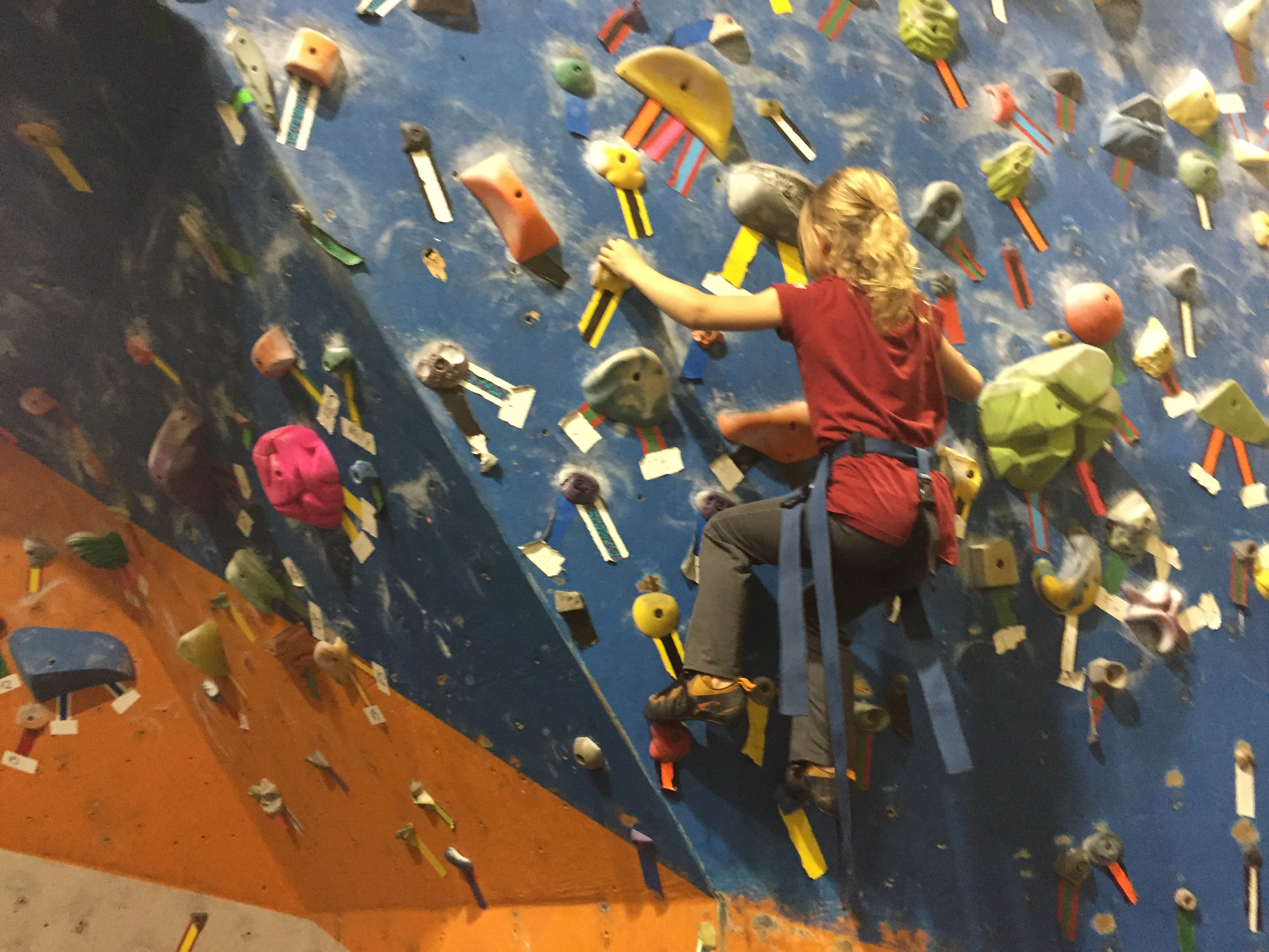 Project Climbing Centre Abbotsford - Young Girl Climbing with #ExploreBCbyBus