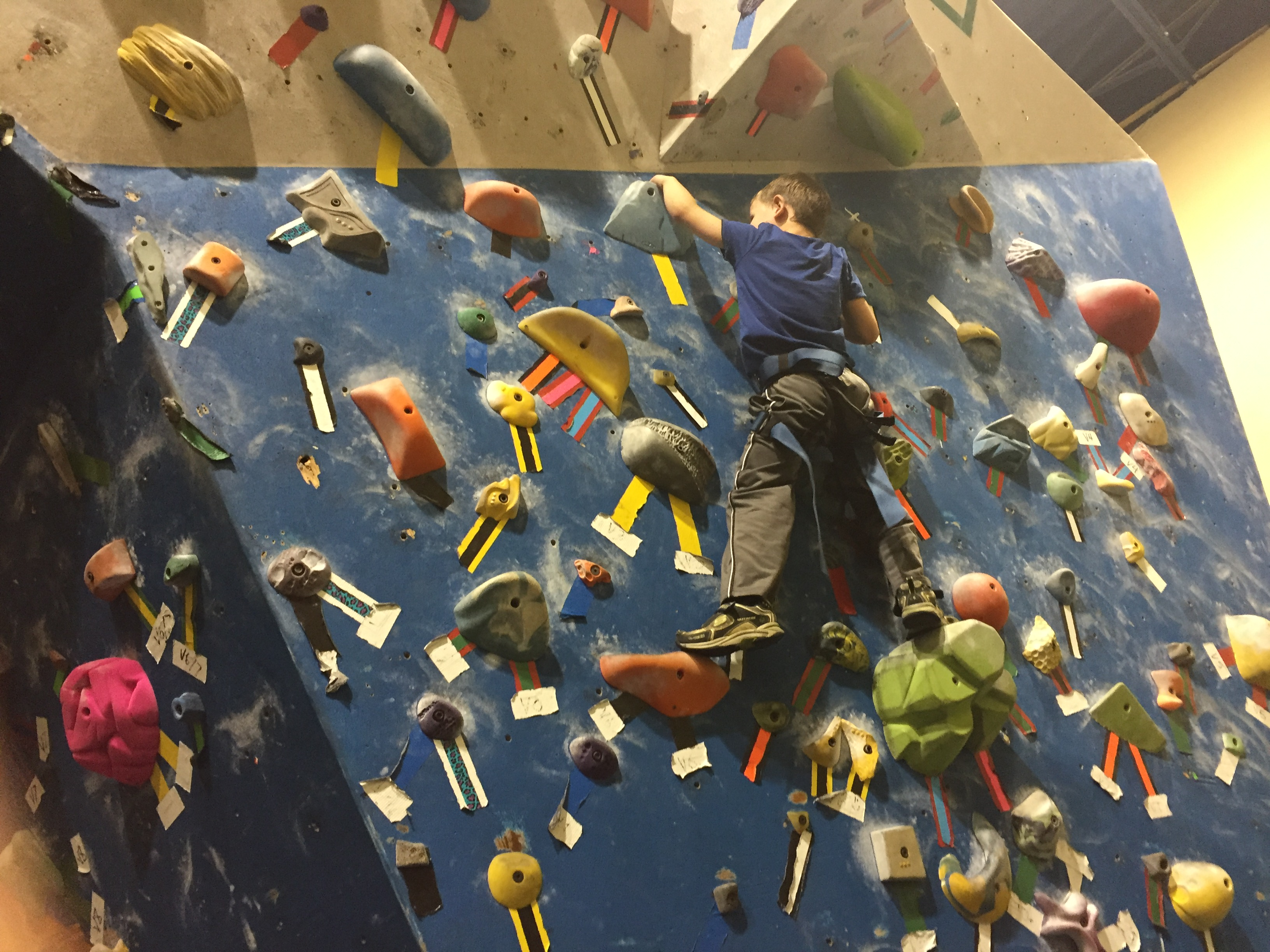 Boy Rock Climbing and Project Climbing in Abbotsford with #ExploreBCbyBus