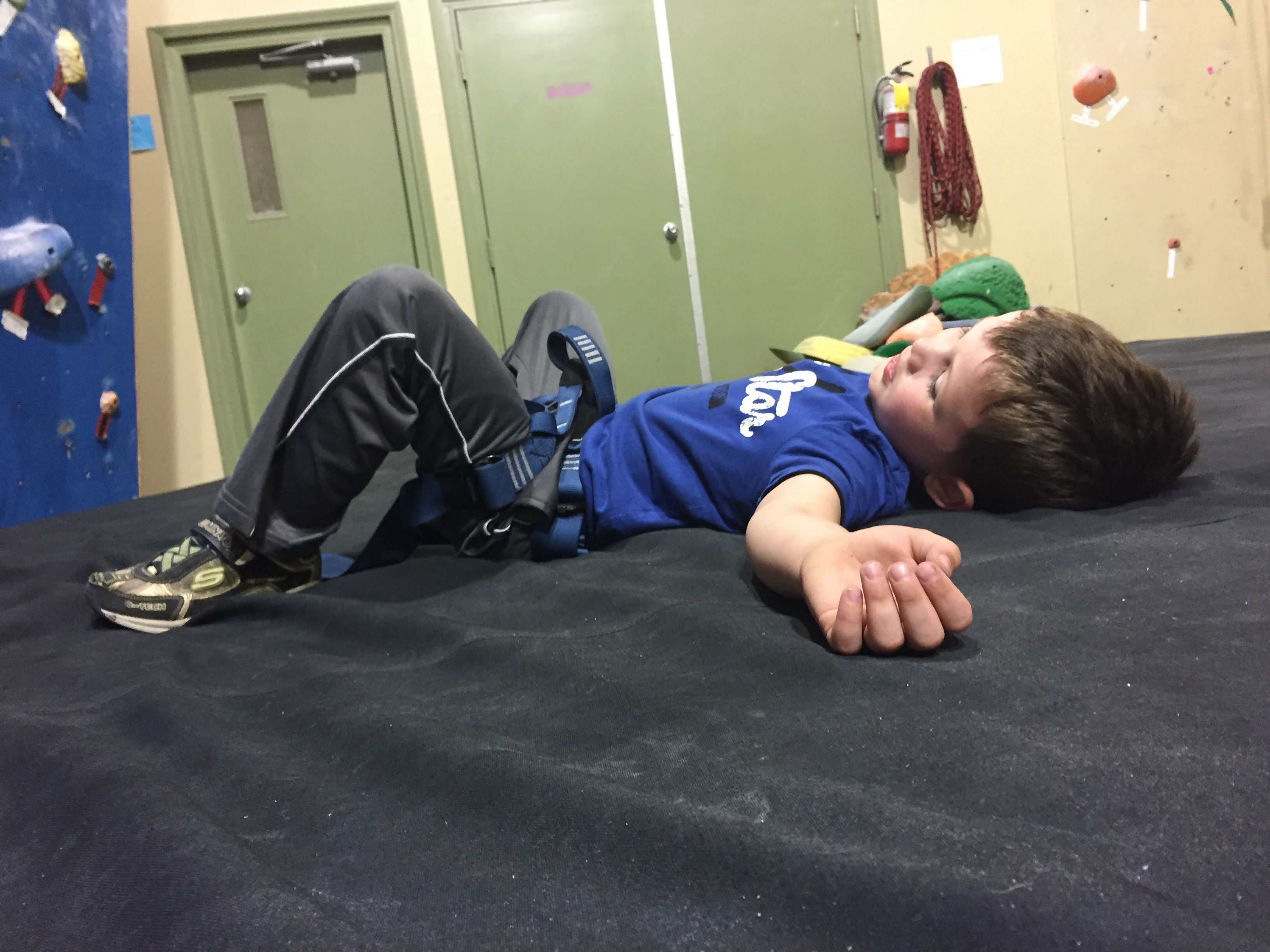 Project Climbing Center Abbotsford - Tired Boy with #ExploreBCbyBus