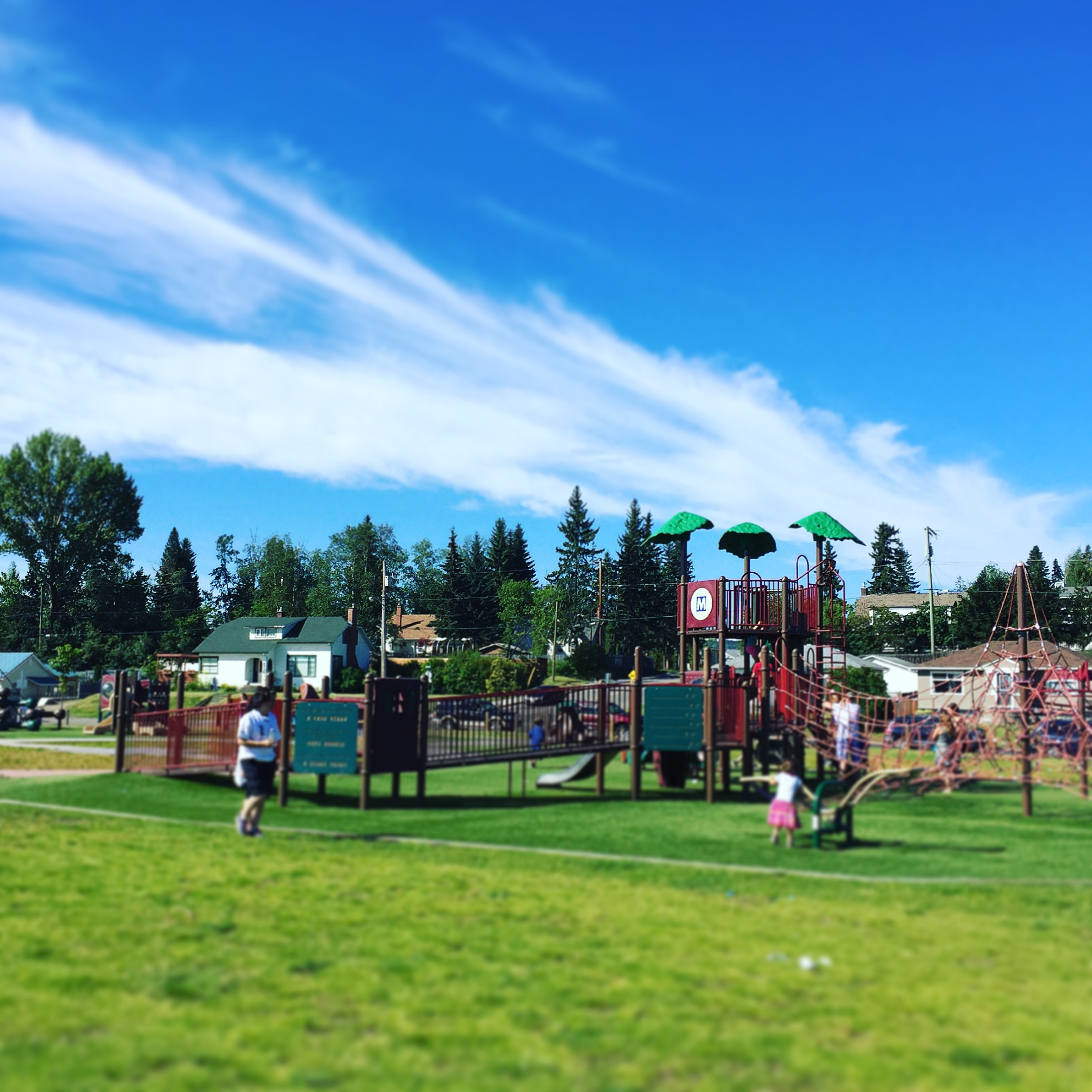 Playground seen during our explore Prince George by bus trip