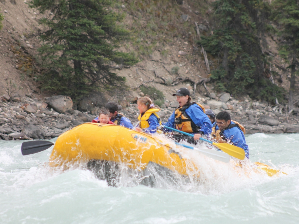 white water rafting in Jasper