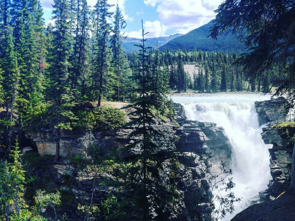 Athabasca Falls in Jasper