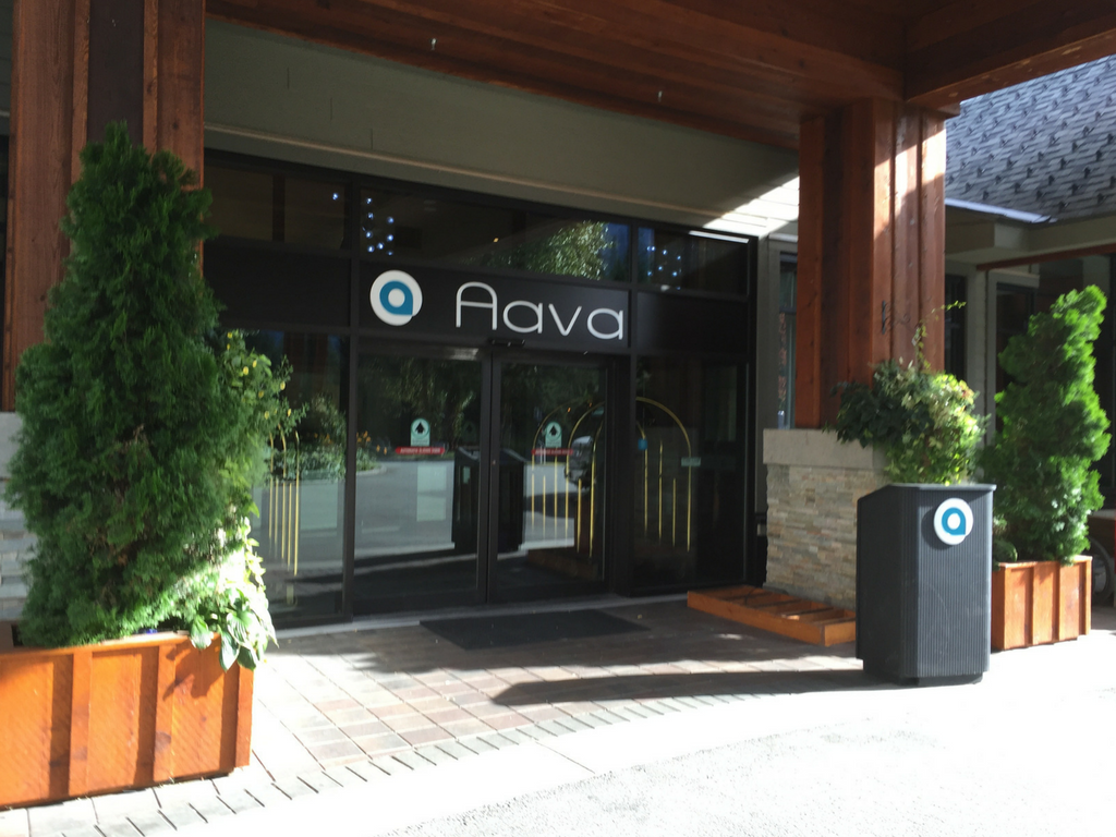 front entrance of Aava Hotel