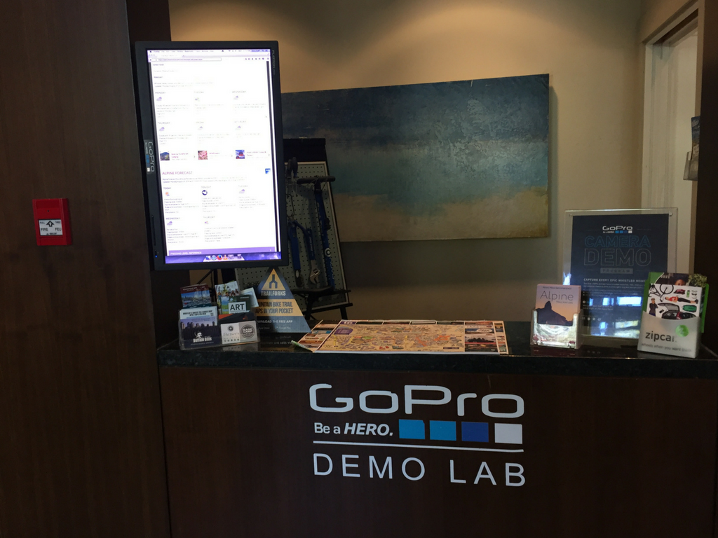 GoPro lab in Aava Hotel lobby
