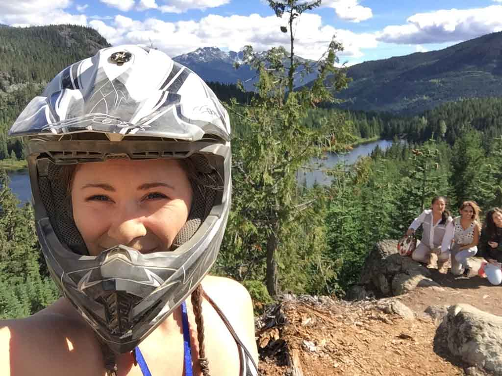 view from the top of a mountain during Whistler ATV Tours