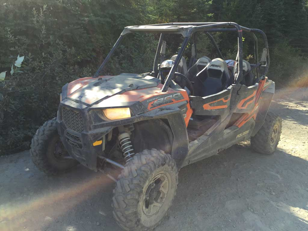 RZR vehicle parked and ready for it's Whistler ATV Tours
