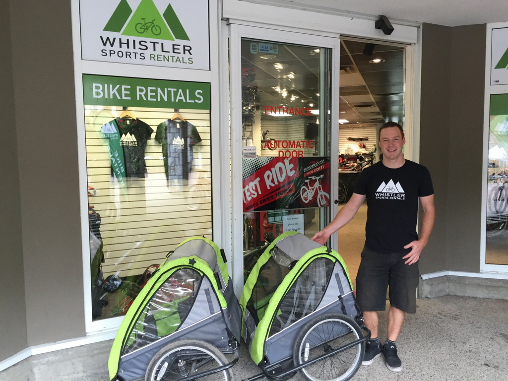 owner standing outside Whistler Sports Rentals store
