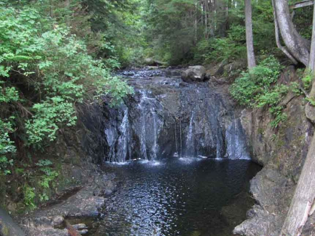 waterfall in Rolley Lake