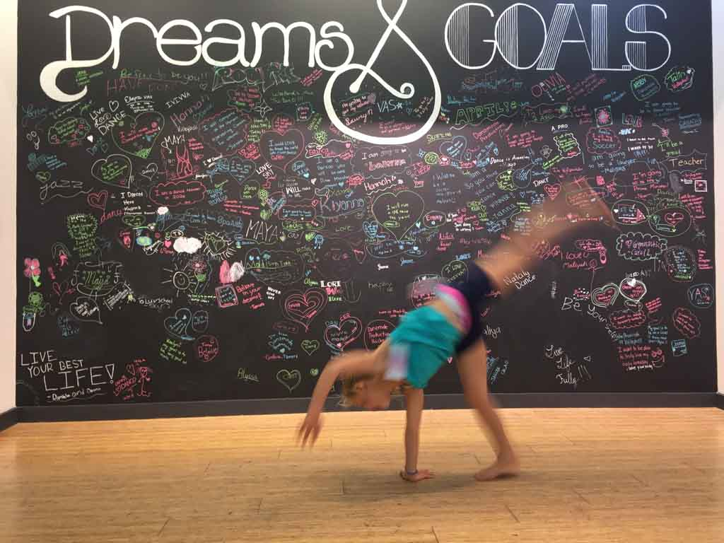 cartwheels to see how the clothes at Ivivva Metrotown fit