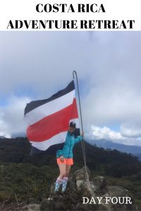woman at the top of the Ena hike at the run like a girl adventure retreat in costa rica
